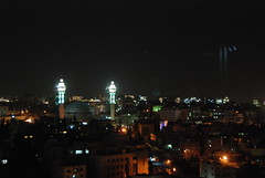Amman, Jordan - King Abdullah I Mosque at Night from the 9th Floor of the Hyatt (jrozwado) Tags: night hotel asia amman mosque jordan hyatt islamic