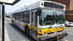 New Flyer D40LF #0729 (AcePhoenix007) Tags: new bus square flyer belmont mbta waverley d40lf