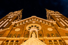Conjunction (vgisti) Tags: light sky building church night stars religion perspective astronomy