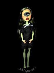 Iris Clops Repaint (saijanide) Tags: iris eye monster high mod doll artist dolls ooak goth surreal cyclops customized custom mh modded repaint clops saijanide