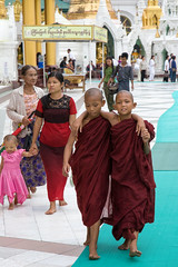 Friends (piper969) Tags: people kids children child bambini yangon burma religion monks myanmar budda rangoon bhudda religione monaci birmania buddismo
