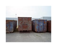 ** (ha*voc) Tags: texture 120 film mediumformat industrial rusty rangefinder 6x7 zaandam urbanfragments mamiya7ii kodakportra160 industrialfragments