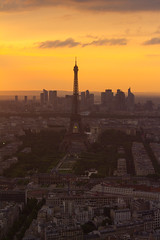Paris Eiffel Tower at sunset view from Montparnasse (Alma de Angel) Tags: travel sunset urban paris france tower tourism skyline night french lights europe european cityscape eiffel ladefense skyscrappers illuminated citylights montparnasse lanmark destinationsscenics