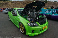VE Commodore UTE (JimmyBBlaze) Tags: green ford creek drag gold big ve ute international commodore simmons block burnout mustang hr hq mad eastern ahmed hz turk holden supercharged blown dragway 2016 myres supernats