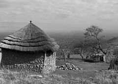 Swaziland huts (Dreamcatcher photos) Tags: blackandwhite heritage rural outdoors blackwhite huts tradition swaziland dreamcatcherphotos