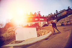 jacob i stensjn (Gustav Norrhll) Tags: sunset sun house photoshop landscape over skateboard effect exposed