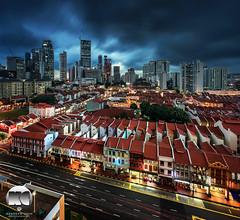 Rainstorm imminent (kenneth chin) Tags: city yahoo google nikon singapore asia chinatown rainstorm nikkor verticalpanorama tanjongpagar d810 uppercrossstreet 1424f28g