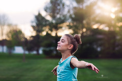 (Rebecca812) Tags: trees sunset sunlight girl outdoors freedom child nostalgia carefree enjoyment wellbeing armsoutstretched vitality childhooo