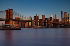The Bridge and the City (Bob90901) Tags: city newyorkcity longexposure morning bridge sky water skyline canon dawn spring outdoor manhattan filter lee brooklynbridge nd april 6d 2016 brooklynbridgepark empirefultonferrystatepark vle neutraldensity graduatedneutraldensity nd10 09gradnd oneworldtradecenter canonef2470mmf28liiusm leebigstopper rpg90901
