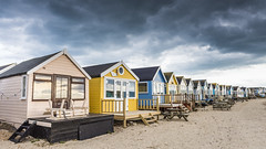 Beach Huts (Simon Cresdee [www.simoncresdeephotography.com]) Tags: uk england beach beautiful outdoors nikon solitude alone quiet unitedkingdom outdoor south dorset beachhuts mudeford 2470mm hengistburyhead d810 mudefordspit