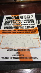 OYSTON OUT! (deltrems) Tags: club out poster coast march football protest lancashire blackpool fylde oyston oystonout