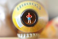 cobra boy (fastglass1) Tags: people beer train bottle cobra little tiny micro oo gauge 00 slinkachu