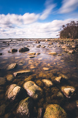 A feeling of deep Longing.. (Magnus Eriksson75) Tags: ocean longexposure sea nature water landscape rocks sweden samsung sverige samyang nx500