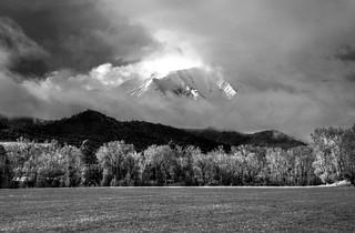 Sopris Morning HDR - black & white