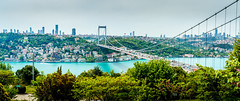 DSC06434-Pano (Orhan Kl) Tags: city bridge sea turkey boat pano istanbul panoramic bosphorus otatepe sonysel35mmf18 sonya6000