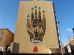 """Vida"" por Boamistura (jomaron0) Tags: streetart hand arte grafiti mano urbano salamanca infografa arteurbano infograph sooc"