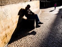 (pedroalves44) Tags: street city color portugal public sadness solitude shadows lisboa lisbon candid streetphotography contrejour
