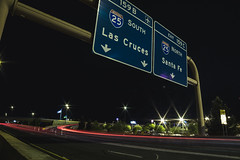 IMG_2340 (CassinStacy) Tags: street new city light people urban night mexico evening highway bokeh albuquerque freeway fe sante