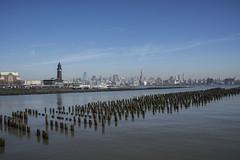 Skyline from Hoboken (PAJ880) Tags: nyc skyline river manhattan north nj terminal hudson pilings hoboken lackawanna
