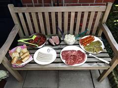 Grillbuffet (multipel_bleiben) Tags: essen salat grillen tomaten gemse geflgel rindfleisch schweinefleisch zugastbeifreunden