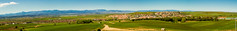 Cobea and Sierra de Madrid Panorama and Landscape (G.Roca) Tags: madrid blue light sky panorama mountain snow plant mountains green nature landscape daylight town spring spain bright outdoor horizon may sierra suburb range cobea