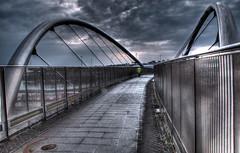 Bridge Walkway (Trigger 1) Tags: bridge suspension steel walkway hdr stainless