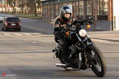 Terminator (salas-3) Tags: street woman photography nikon action sigma motorbike harleydavidson inaction motorcykle