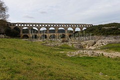 40080137 (wolfgangkaehler) Tags: bridge france water french europe european roman bridges unescoworldheritagesite aqueduct nimes pontdugard aqueducts southernfrance 2016 1stcenturyad gardonriver garddepartment