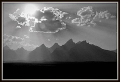 Fire in the Sky (A.L. NooDLE) Tags: sun mountain mountains forest fire haze smoke tetons range grandtetonnationalpark