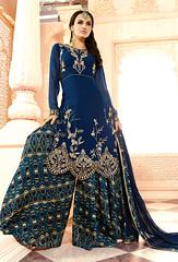 Blue Georgette Achkan Style Salwar Kameez (nikvikonline) Tags: blue fashion women suit frock colorblue casualwear salwarkameez partywear womenswear dailywear bluerock womenclothing fashiondress salwarsuit womenfashion bluewear onlinewomens stylishsuits bluesalwar pakistanisuit pakistaniwear pakistanisalwarsuit stylwear bluekameez
