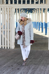 Casual Bundled Up Winter White Outfit with J.Crew Chateau Parka (jackiegiardina) Tags: winter white cold cozy outfit gray paige style jeans denim casual jcrew bundled comfy neutral livingaftermidnight livingaftermidnite jackiegiardina