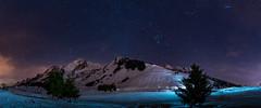 Lac Des Confins (P-H.Felmy) Tags: longexposure nightphotography winter panorama mountain lake night montagne stars landscape nightscape hiver lac paysage nuit toiles aravis