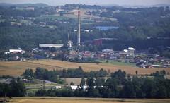 Dalkia factory in Frdek (TravelersOfOnePercent) Tags: city autumn summer town factory distance podzim msto lto tovrna fujifilmfinepix frdekmstek heatingplant 2013 dalkia lskovec vzdlenost