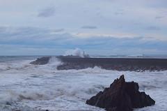 Cantabric sea is angry (LuisGoiti) Tags: sea sky lighthouse landscape spain nikon wave asturias angry shorebreak nikonista d3300