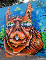 Street-art (Dicksy93) Tags: street urban paris france art animal wall seine canon painting eos graffiti europe paint outdoor couleurs tag dessin peinture graff 75 mur extrieur iledefrance bombing ville lapin 19me 650d img2357 dicksy93 pressionisme