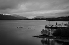 Maid of the Loch (Devilishmess) Tags: water boat blackwhite loch lochlomond maidoftheloch