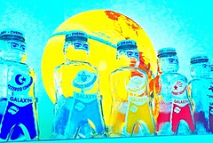 ***INTERGALACTIC*** Circa 1953 Pre-Space Race (luvehorror) Tags: star rocketman astronauts galaxy solarsystem starman planetearth spaceace majortom atomicage moonmen asteroidcommander spacecommander interplanetarycommander spacescout spacenavigator spacebombardier orbitadmiral syrupbottles spaceadmiral spacefoodscompany galaxyhomesyrupsforsoftdrinks spacesentry theraceforspace spacemanbanks 1953spacebanks intergalacticspacemen galaxysyrups plutoisstillaplanettome