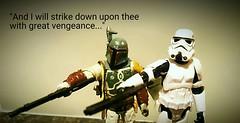 """Say 'Art' Again"" (Wilkinson Sword) Tags: dark effects photo starwars funny pulpfiction stormtrooper bobafett guns villains verse bountyhunter blasters"