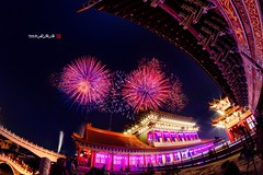 2015-2-28 (Tainan International Fireworks Show) ((Su Bo-An)) Tags: show new city nikon fireworks district year taiwan 8 newyear fisheye international newyears tainan 8mm  annan  tainancity  2015 fireworksshow   samyang   d3200        annandistrict samyang8mm    internationalfireworksshow