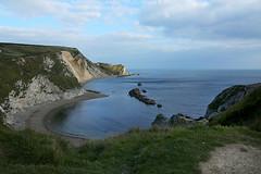 Looking back from Durdle Door, Dorset (crafty1tutu (Ann)) Tags: travel england holiday coast unitedkingdom dorset whitecliffs durdledoor 2015 jurassiccoast anncameron naturethroughthelens canon5dmkiii crafty1tutu canon28300lserieslens