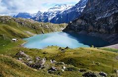 Iffigensee, Switzerland (welenna) Tags: schnee autumn lake snow mountains landscape switzerland see view berge alpen berneroberland iffigenalp iffigensee