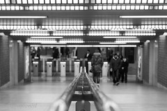 (Reflexionist) Tags: light blackandwhite bw subway lights nikon metro bn depthoffield d750 luci passing turnstile metropolitana depth luce biancoenero separation passanti passante profondit separazioni profonditdicampo separations separazione tornelli nikonitalia reflexionist nikond750