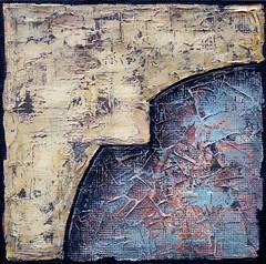 """Perception #8"", painted by C. Gapik, acrylic on fibreboard, 25 x 25 x 1.5 cm (CEZ-ART) Tags: abstract texture painting acrylic cezarygapik"