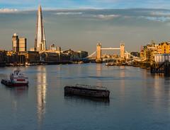 Sunrise, looking up the River Thames towards Tower Bridge, London, England (Strabanephotos) Tags: bridge england london tower up thames sunrise river looking towards