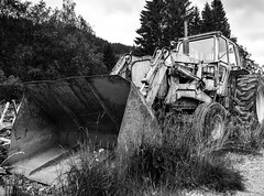 Abandoned tractor [Explored] (Terje Helberg Photography) Tags: bw tractor abandoned norway samsung machinery bergen bnw greyscale visitnorway ilovenorway nx1000 visitbergen