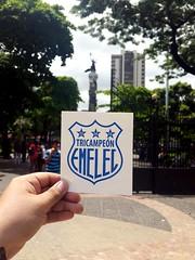 Sticker Club Sport Emelec Tricampeón  #Guayaquil #Ecuador #CSE #Capwell (emaficse) Tags: ecuador cse guayaquil capwell