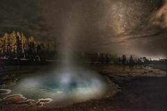 Yellowstone Milky geyser-2-01 (K Cutler) Tags: park light sky nature night painting way stars spring amazing long exposure earth basin galaxy national wyoming lower geyser milky silex yellowston
