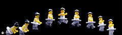 ballet (Young's Lego) Tags: ballet white black photography photo dance jump lego young mini grace lee pause ki minifigure kiyoung legography