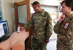 BG Patrick Sargent visits the Anderson Simulation Center (Madigan Army Medical Center) Tags: madigan mamc regionalhealthcommandpacific bgsargent