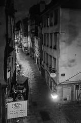 Rennes des Lanternes (Thomas Louvel) Tags: street blackandwhite white black silhouette night flickr noiretblanc calm nb lantern friday rue nuit rennes calme bight flickrfriday